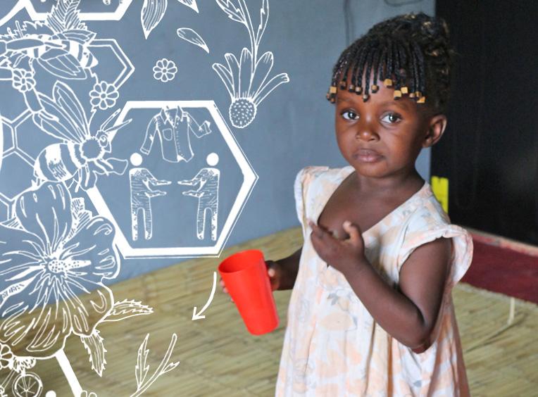 Sambia Frauenhaus Kleiderspende