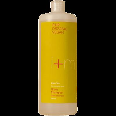 Nachfüllsystem Family Size Glanz Shampoo Refill Haarpflege für normales Haar von i+m Naturkosmetik - fair, bio, vegan.