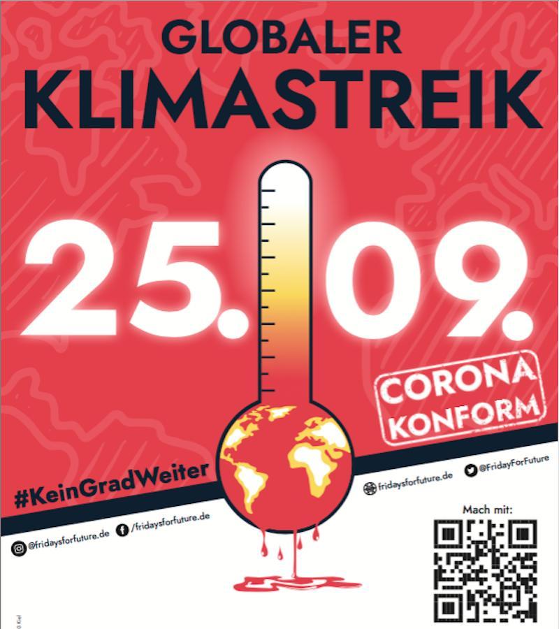 Aufruf zum Globalen Klimastreik am 25.9.2020 #KeinGradWeiter
