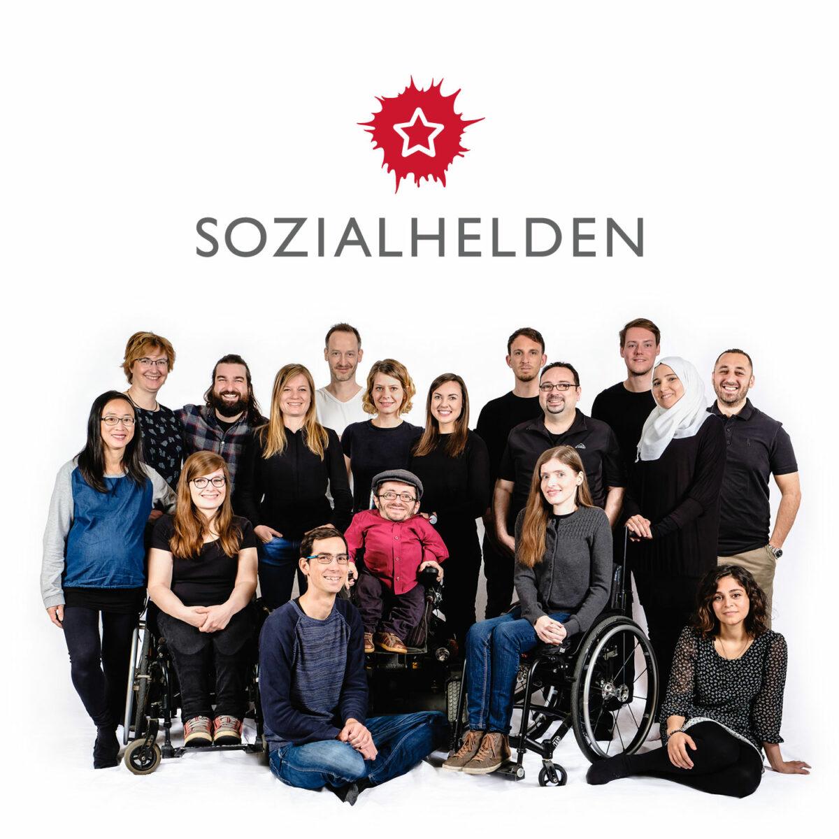 Sozialheld*innen aus Berlin im Team